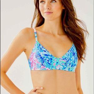 Lilly Pulitzer Triangle Bikini Bra Top 14 XL NWT